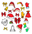 set of happy new year stickers vector image
