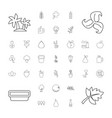 37 leaf icons vector image vector image