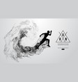 abstract silhouette running athlete man sprint vector image