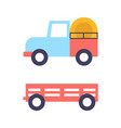 agrimotor tractor icons set vector image vector image