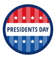 Badge greetings for Presidents day vector image