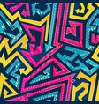 bright arrow geometric seamless pattern vector image