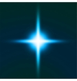 Bright blue star vector image vector image