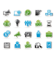 Business management concept icons vector image vector image