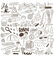 Camping - doodles collection vector image vector image