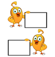 Cartoon Chick Board vector image vector image