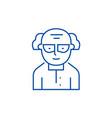 chemistscientist line icon concept chemist vector image vector image