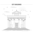 City buildings graphic template Italian basilica vector image vector image
