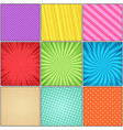 comic colorful composition vector image vector image