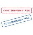 contingency fee textile stamps vector image vector image