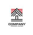 creative house logo vector image