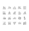 cruises line icons signs set outline vector image vector image