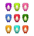 Cute cartoon colorful alien characters set