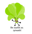 cute cartoon vegetables with smiles on faces and vector image