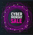 cyber monday sale abstract poster pink promo vector image vector image