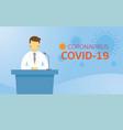 doctor declaration to public speech vector image vector image