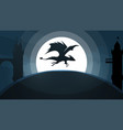 dragon castle cartoon paper vector image vector image