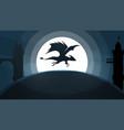 dragon castle cartoon paper vector image
