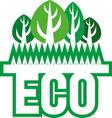 eco2 vector image
