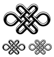 endless celtic knot black white symbol vector image vector image