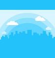 evening city flat isolated vector image