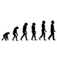 evolution rapper silhouette on white background vector image vector image