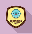expedition logo flat style vector image vector image
