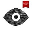 Eye icon Scribble icon for you design vector image