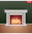 Fireplace in house cozy room vector image