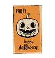 flyer template halloween party evil pumpkin on vector image