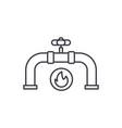 gas pipeline line icon concept gas pipeline vector image vector image