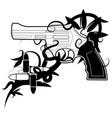 gun emblem vector image