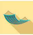 hammock icon flat style vector image vector image