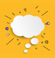 hand drawn speech bubbles icon vector image vector image