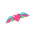 heart with wings on a white vector image vector image