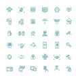 home security icons set line set vector image