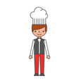 hotel chef avatar character vector image