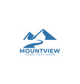 mountain logo design template isolated vector image vector image