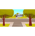 natural landscape around highway exterior vector image vector image