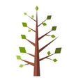 New tree flat sign vector image vector image