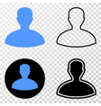 person eps icon with contour version vector image vector image