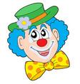 portrait of clown vector image vector image