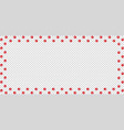 rectangle border made of red animal paw prints vector image vector image