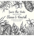 save the date tropical leaves trendy summer vector image