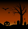 scary halloween tree vector image vector image