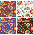 set geometric patterns ans backgrounds vector image