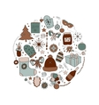 Set of Christmas symbols and vector image vector image