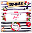 set of summer sale banner design vector image vector image