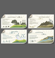 set of vintage renewable energy infographics vector image vector image