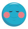 shy smile chat emoticon vector image vector image